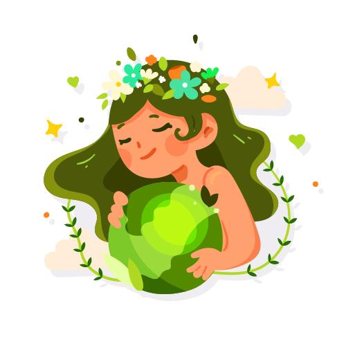 dziewczynka trzyma ziemie